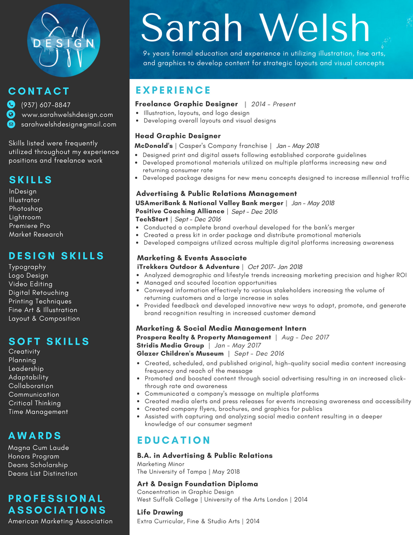 Sarah Welsh Resume